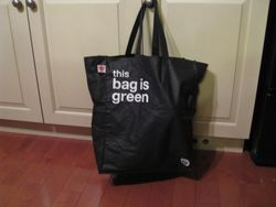 This bag Is Green
