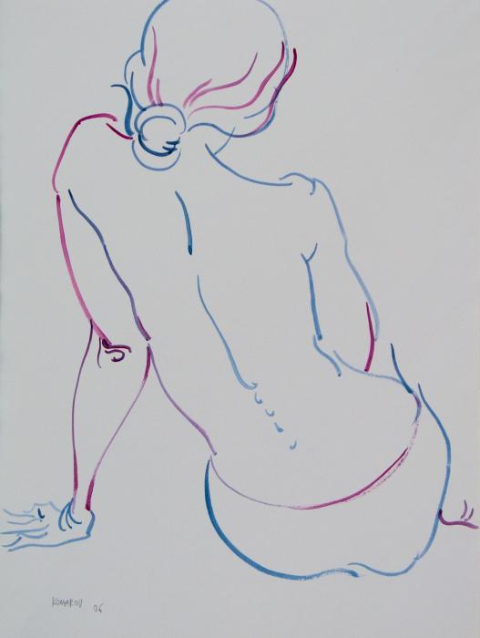 Naked-woman-sitting-with-bare-back-vitali-komarov