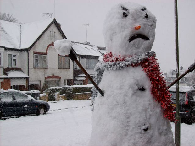 Angry-snowman