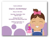 PosePrints 3rd Birthday Invitation