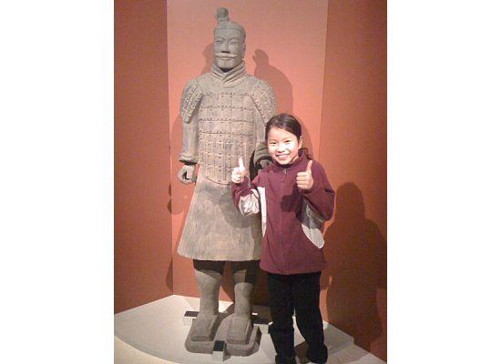 Rachel & terra cotta warrior