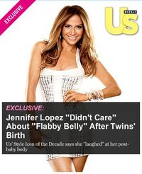 US Weekly scoop on JLo and her baby belly