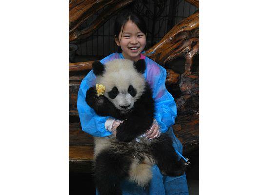 Rachel and panda