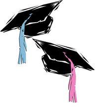Graduation Caps - Twins