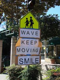 Wave keep moving smile