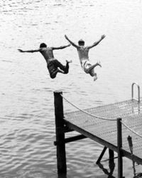 Jumping-off-the-dock
